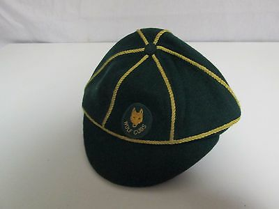 Vintage Green Wool Wolf Cubs Cap Boy Scouts Canada Vintage Hat Sx 6 7/8
