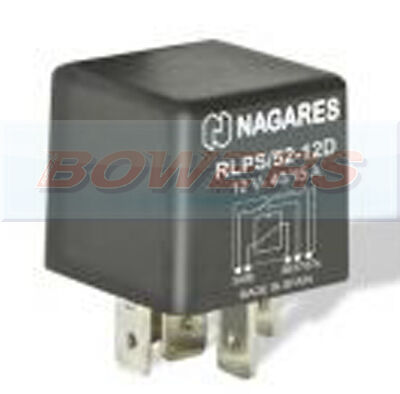 Nagares Rlp/52-12D 5 Pin 12V 40/15A Change Over Multi Purpose Relay With Diode