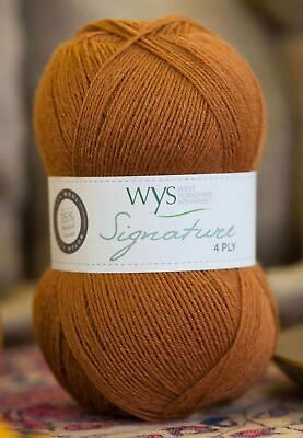 West Yorkshire Spinners Signature 4 Ply Yarn Wool 100g - Nutmeg (630)