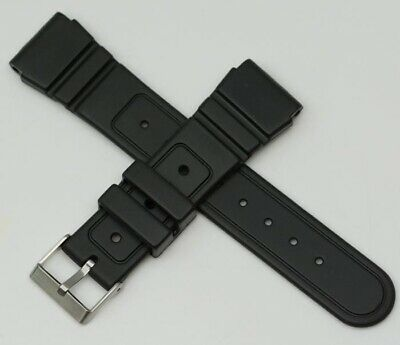 Rubber black 22mm watch strap replacement heavy grade divers waterproof diving