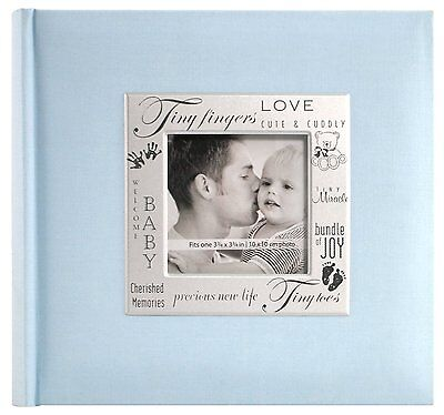 Baby Photo Album Boy 200 Pocket Blue Picture Memory Book Organizer Newborn Gift