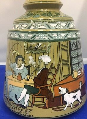 EXTREMELY RARE!! Buffalo Pottery Deldare Ware HUMIDOR Jar W/Lid Signed