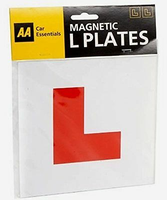 Pack Of 2 Aa Magnetic  Learner Driver L Plates Exterior Car Bike : Wh2 Tbl - New