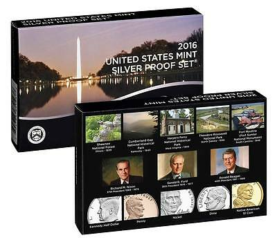 2016 US Mint SILVER Annual Proof Set 13 Coins Coin set 16RH