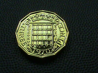 GREAT  BRITAIN    3  Pence    1970    PROOF