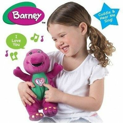 Barney I Love You Singing Soft Plush Heart Song the Dinosaur Toy Children