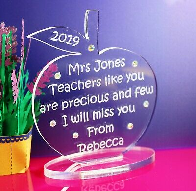 Personalised Teacher,  Classroom Assistant Apple Gift/Keepsake - Freestanding
