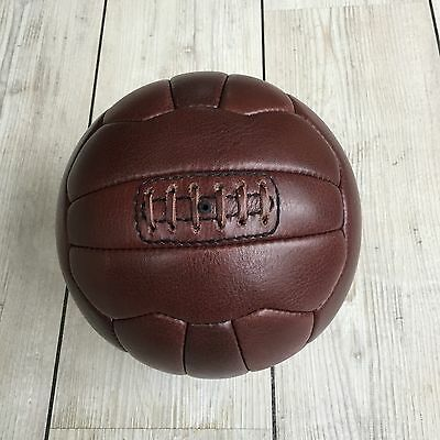 Authentic Leather Vintage Football / Soccer Ball - 18 Panel, Retro Style