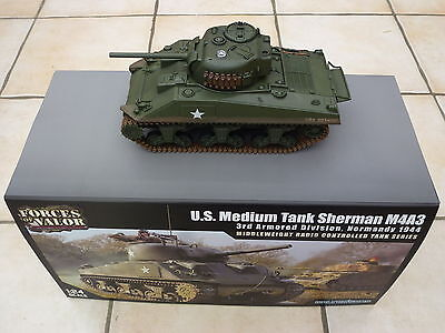 Forces of Valor 1:24 M4 Sherman Infrared IR Combat R/C Tank by Waltersons *New*