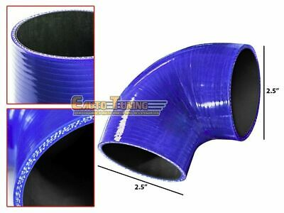 "2.5"" Silicone Hose/Intercooler Pipe Elbow Coupler BLUE For Jeep/Land Rover"