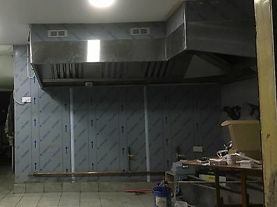 Commercial Kitchen Canopy Hood L shape, with Filters