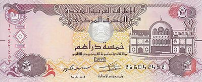 UAE UNITED ARAB EMIRATES 5 DIRHAMS 2015 P-26c UNC */*