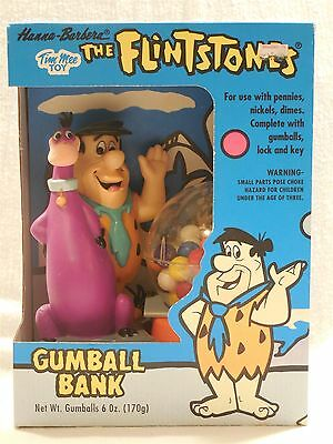 Flintstones 1993 Tim Mee Toy Fred and Dino Gumball Bank New in Box