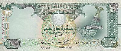 UAE UNITED ARAB EMIRATES 10 DIRHAMS 2015 P-27d UNC */*