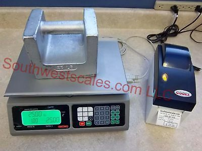 Torrey LPC40L Price Computing Deli Meat Scale w/ Godex DT2 Label Printer