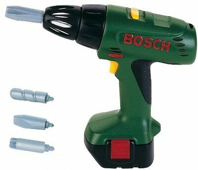 Bosch Toy Drill Screwdriver Battery Operated Realistic Replica Playset for Kids
