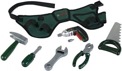 Bosch Toy Tool Belt Screwdriver & Accessories Realistic Replica Playset for Kids