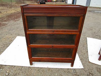 Antique Mission Arts & Craft Tiger Oak 3 Stack Lundstrom Barrister Bookcase