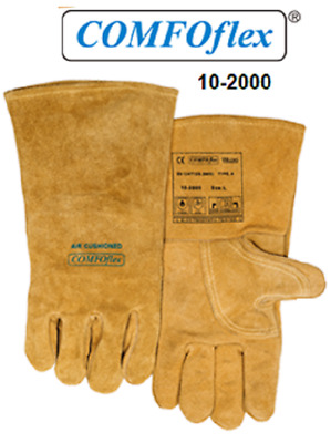 "Weldas Welding Gloves 10-2000 Premium Grade A Leather Gloves XX Large 14"" Long"