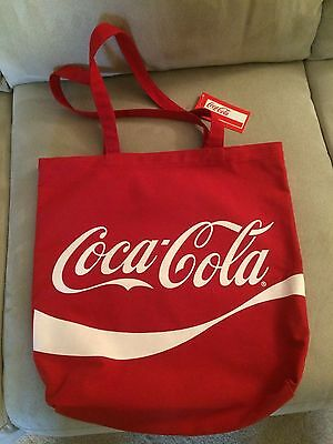 Coca Cola Red and White Logo Canvas Tote Bag