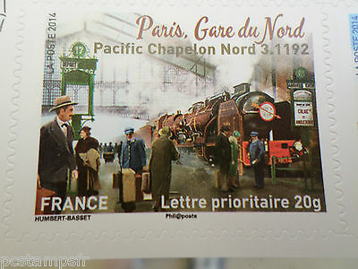 FRANCE 2014, timbre AUTOADHESIF TRAIN, LOCOMOTIVE PACIFIC, neuf**, VF MNH STAMP
