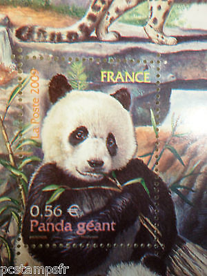 FRANCE 2009, timbre 4372, ANIMAUX PANDA GEANT, neuf**, MNH STAMP WILD ANIMALS