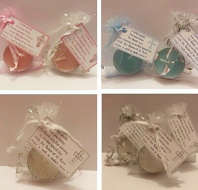 50p Personalised Christening Favour Table Decoration Tealight Boy or Girl