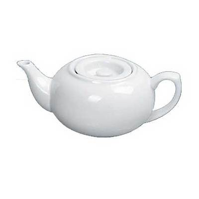 Yanco Porcelain White Accessories Coffee/Teapot with Raised Lid, 24 Ounce -- 12