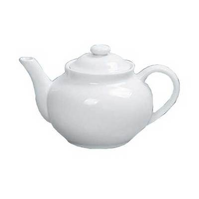 Yanco Porcelain White Accessories Coffee/Teapot with Raised Lid, 40 Ounce -- 12