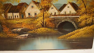 Oil Painting HD Art Print on Canvas of Lanscape, Signed