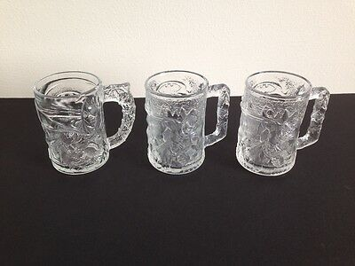 Lot of Vintage 1990s 1995 McDonalds DC Comics Batman Forever & Robin Glass Mugs