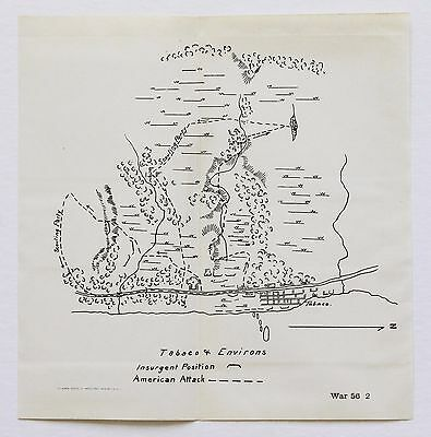 1899 Tabaco Philppines Map Insurgent Positions American Attack WAR DEPARTMENT