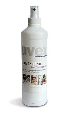 UVEX 500ml Safety Glasses Spectacles Lens Cleaning Solution Fluid. 9972-101