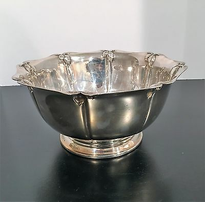 Vintage Oneida Silverplate Pedestal Bowl with Acorns around Rim