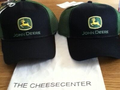 Brand New John Deere Black/green Hat Cap One Size Fits All