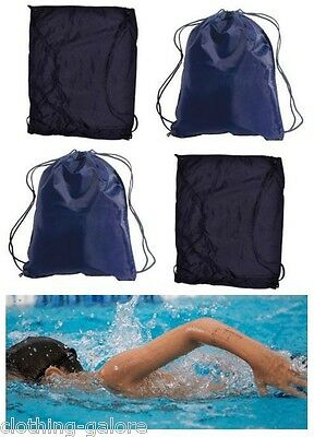 New Kids Boys Girls Swimming Back Pack School Swim Black Blue Back Pack