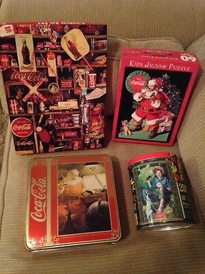 Coca Cola Jigsaw Puzzles - Assortment of 4