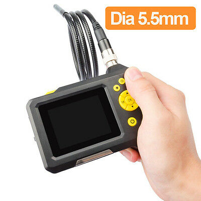 1M Cable 2.7 Video Inspection Camera 5.5mm Borescope Endoscope Zoom Rotate Video