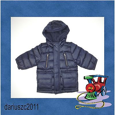 NWT Baby GAP Puffer Jacket Coat Navy Blue  Size  12-18 months