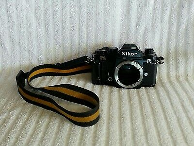 Nikon FA 35mm SLR Film Camera Black Body Only Made In Japan TESTED WORKING