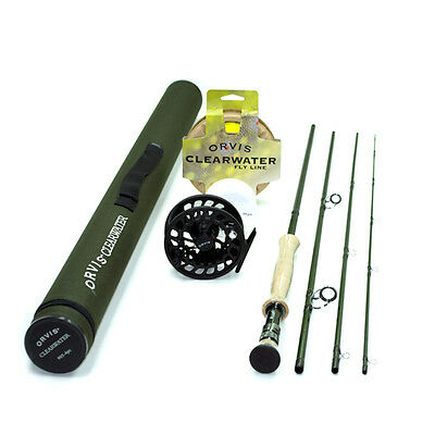 Orvis Clearwater 7wt 9ft Fly Rod Outfit 907-4 FREE SHIPPING IN THE US