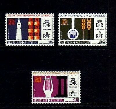 New Hebrides - 1966 - Qe Ii - Unesco - Education - Mint - Mnh - Set!