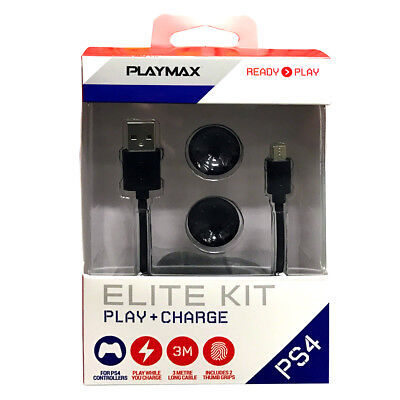 Playmax Play & Charge Elite Kit for PS4 NEW