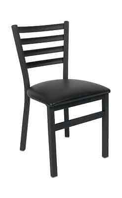 New Ladder Back Black Metal Chair Commercial Restaurant Seating Furniture 328