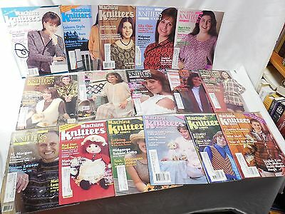 Lot Of 16 Vintage Machine Knitters Source Magazines 1995-1997
