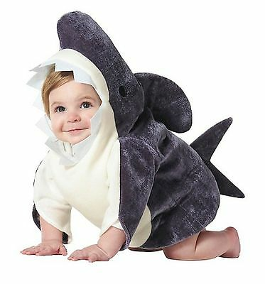 Infant Child Plush Shark Dress-Up Party Costume 0-6 Months - Gray - Halloween