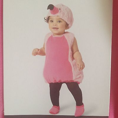 Infant Plush Flamingo Costume - Pink Halloween Outfit 12-18 Months