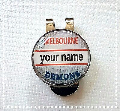 anneys - your OWN PERSONALISED  **DEMONS ** golf ball marker + HAT clip!