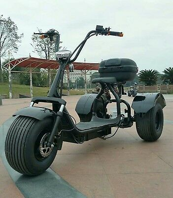 Harley Chopper Dragster Inspired 1500w Electric trike 3 wheeler bike