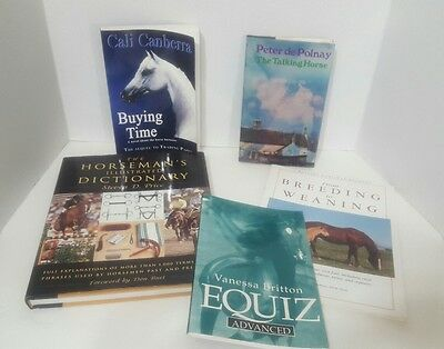 Horse Lover's 5 Book Lot ~ Educational and Fiction~ Must See!